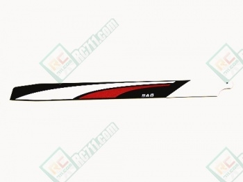 SAB 0208R 705mm CarbonFibre Main Rotor Blade (Red/White
