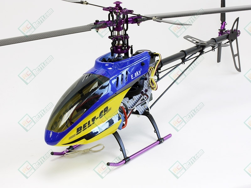New 2009 esky belt cp v2 carbon edition rc helicopter w/ brushless.