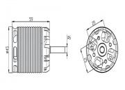 HML60M02T 600MX Brushless Motor(1220KV) RCM-BL600MX for